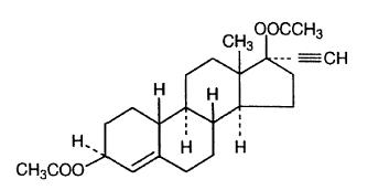 Ethynodiol Diacetate structural formula