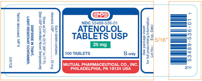 Atenolol Tablet [Mutual Pharmaceutical Company, Inc.]