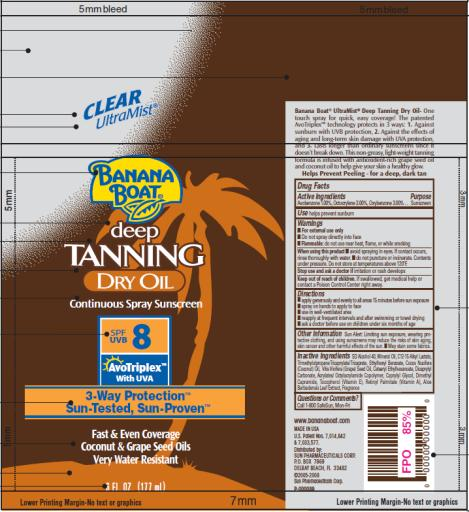 PRINCIPAL DISPLAY PANEL Banana Boat Deep Tanning Dry Oil SPF 8