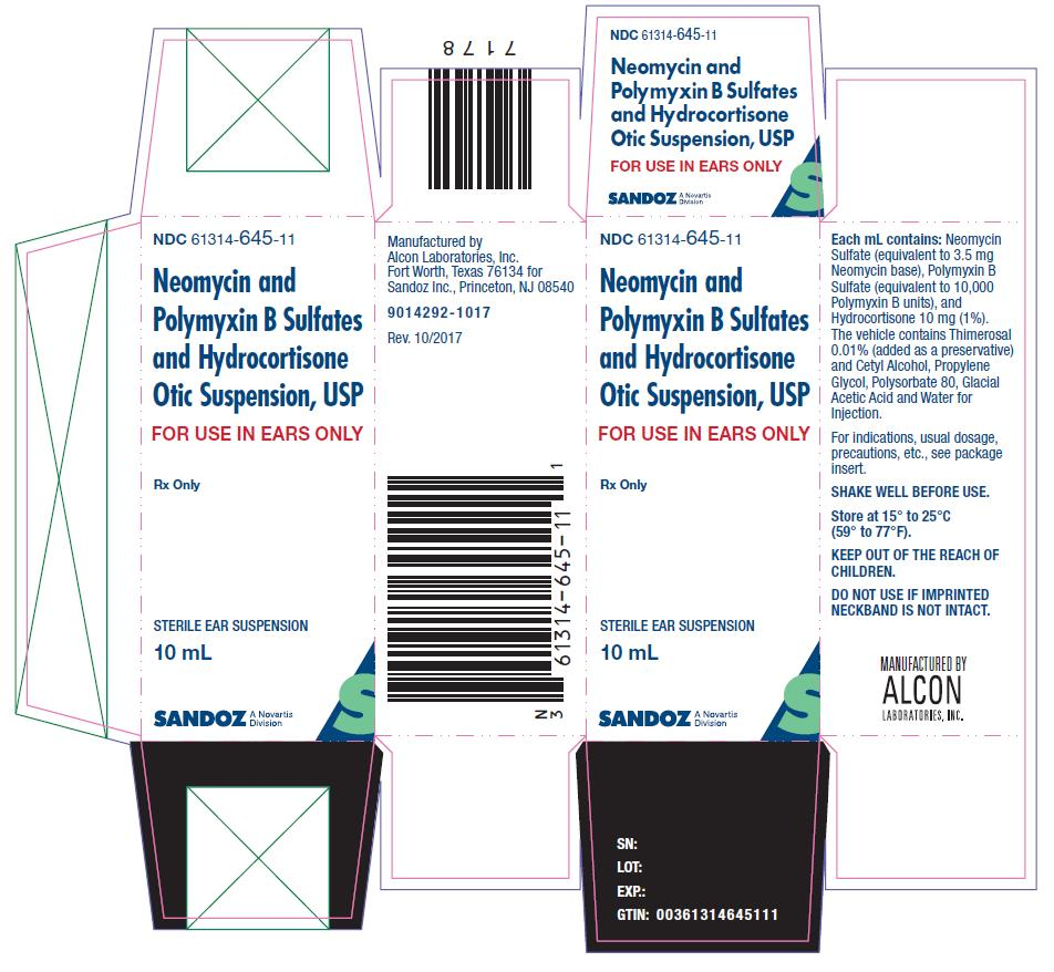 Neomycin And Polymyxin B Sulfates And Hydrocortisone (Neomycin Sulfate, Polymyxin B Sulfate And Hydrocortisone) Suspension [Falcon Pharmaceuticals, Ltd.]