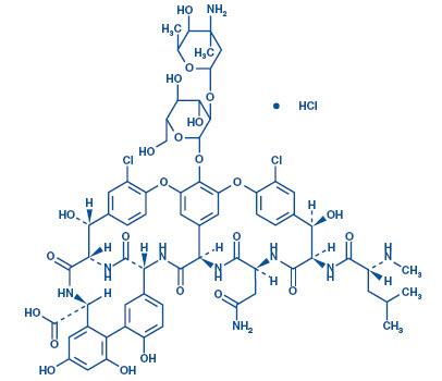 Vancomycin Hydrochloride Structural Formula