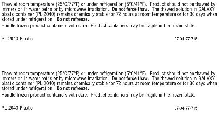 Vancomycin Representative Container Label 0338-3582-01
