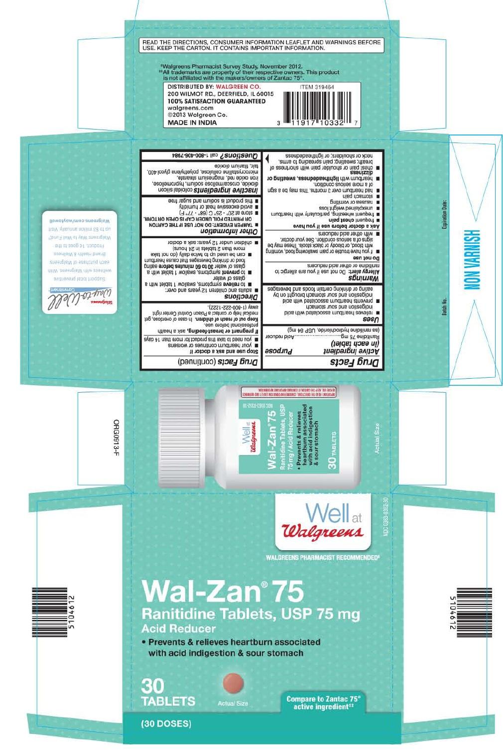 Ranitidine Tablet, Film Coated [Walgreen Company]