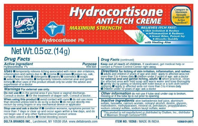 Lucky Supersoft Maximum Strength (Hydrocortisone) Cream [Delta Brands, Inc]