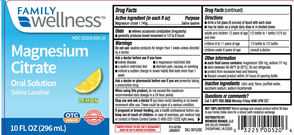 Magnesium Citrate Liquid [Family Dollar (Family Wellness)]