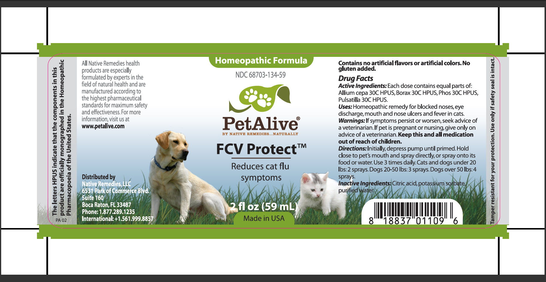 Fcv Protect (Allium Cepa, Borax, Phos, Pulsatilla) Spray [Native Remedies, Llc]
