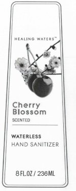 Healing Waters Cherry Blossom Scented Waterless Hand Sanitizer (Alcohol) Gel [Enchante Accessories, Inc]