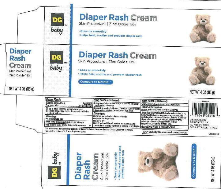 Diaper Rash (Zinc Oxide) Cream [Dolgencorp, Llc]