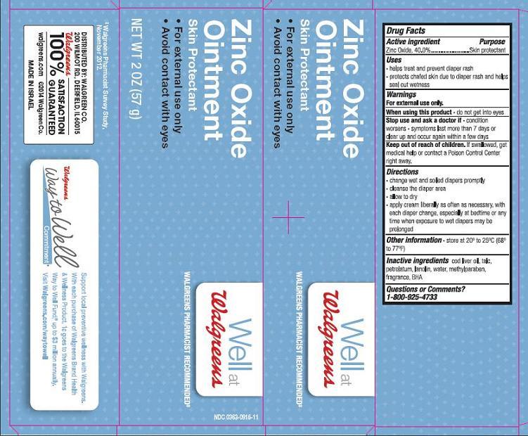 Maximum Strength Diaper Rash (Zinc Oxide) Cream [Walgreen Company]
