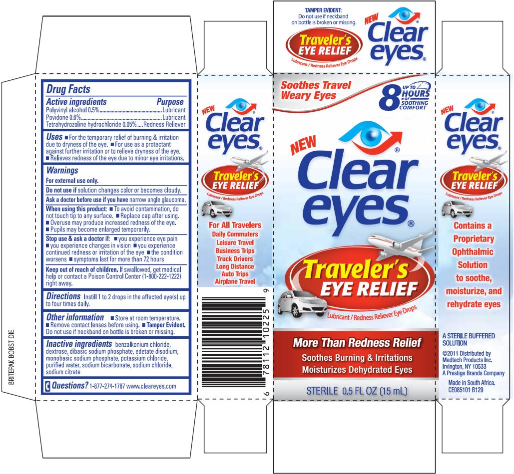 Clear Eyes Travelers Eye Relief (Polyvinyl Alcohol And Povidone And Tetrahydrozoline Hydrochloride) Liquid [Prestige Brands Holdings, Inc.]