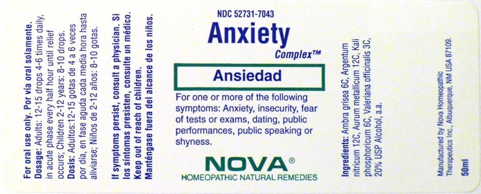 Anxiety Complex (Ambra Grisea, Argentum Nitricum, Aurum Metallicum, Kali Phosphoricum, Valeriana Officianalis) Liquid [Nova Homeopathic Therapeutics, Inc.]