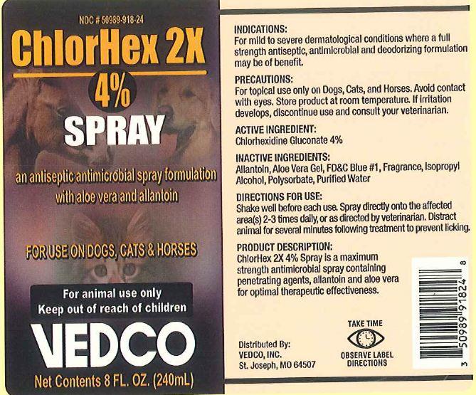 Chlorhex 2x (Chlorhexidine) Spray [Vedco, Inc]