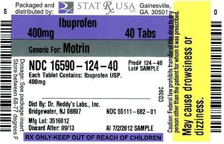 IBUPROFEN 400MG 124 Label Image