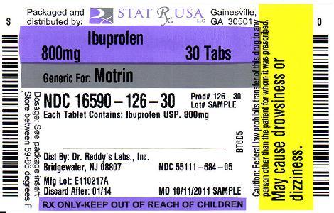 IBUPROFEN 800MG 126 Label Image