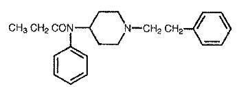 Fentanyl structural formula
