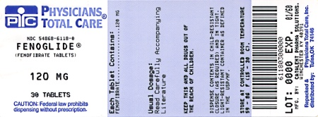 image of 120 mg package label