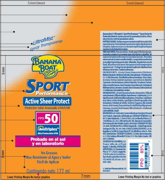 PRINCIPAL DISPLAY PANEL Banana Boat Sport Performance SPF 50