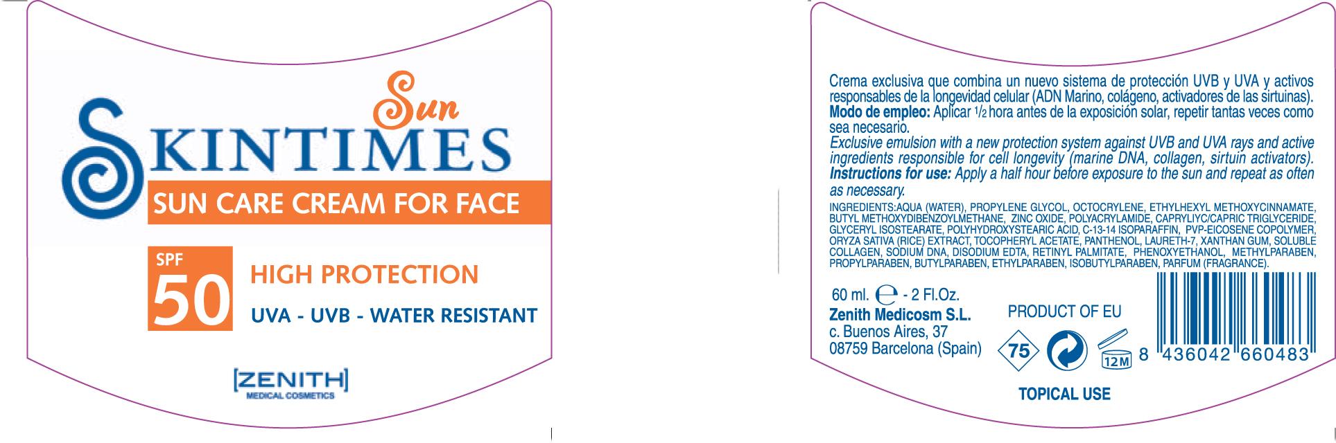 Sun Care For Face (Octinoxate Avobenzone Zinc Oxide Octocrylene) Cream [Zenith Medicosm Sl]