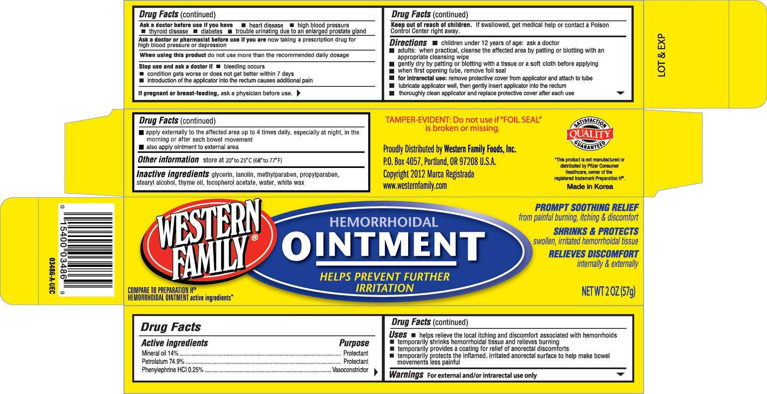 Western Family Hemorrhoidal (Mineral Oil) Ointment [Western Family Food, Inc.]