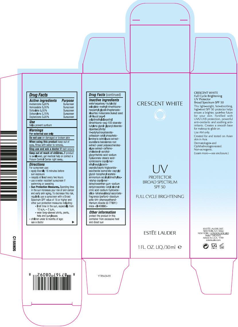 Crescent White Uv Protector Broad Spectrum Spf 50 (Avobenzone, Homosalate, Octisalate, Octocrylene, And Oxybenzone) Lotion [Estee Lauder Inc]