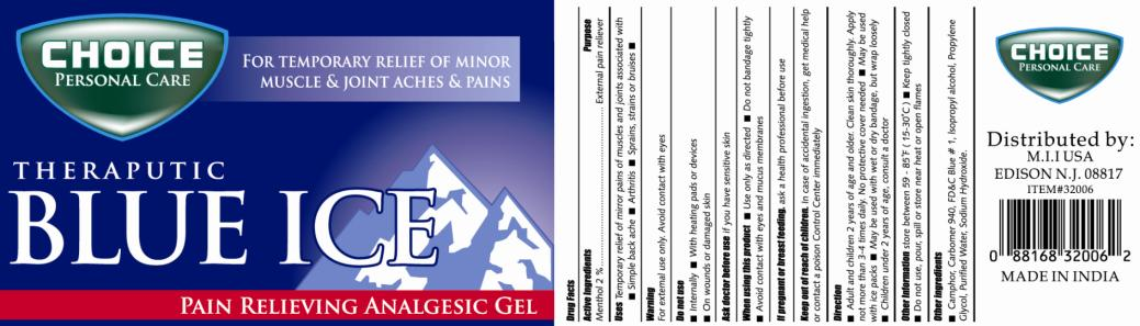 Choice Personal Care Theraputic Blue Ice (Menthol) Gel [My Import Inc]