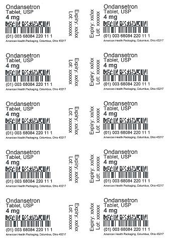 4 mg Ondansetron Tablet Blister