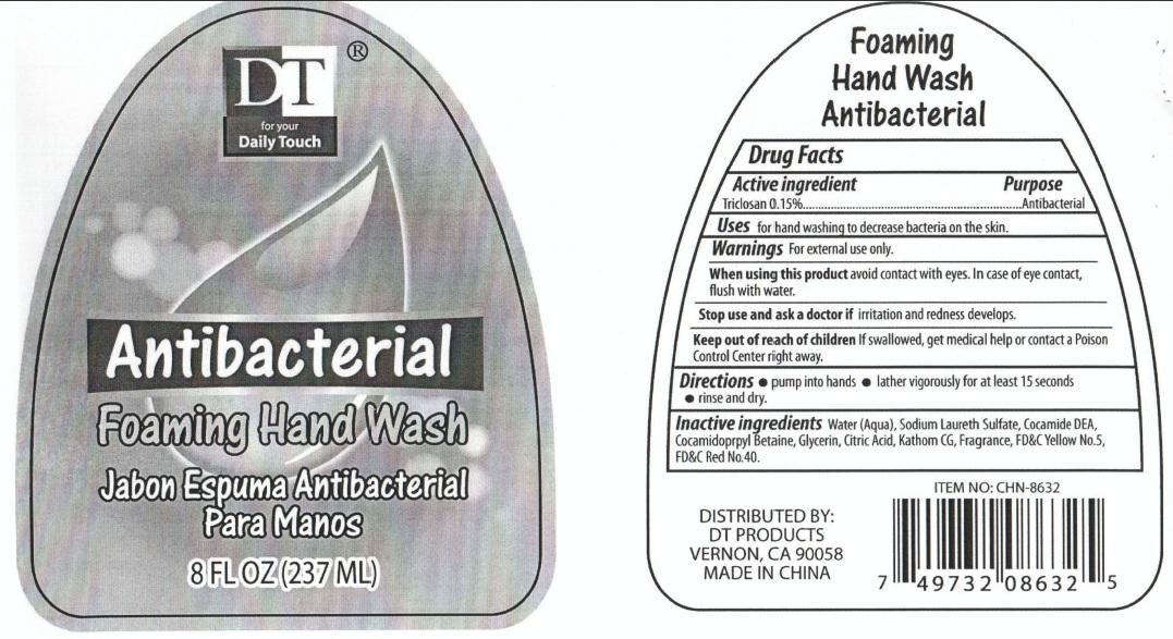 Dt Antibacterial Foaming Hand Wash (Triclosan) Liquid [Volume Distributors, Inc.]