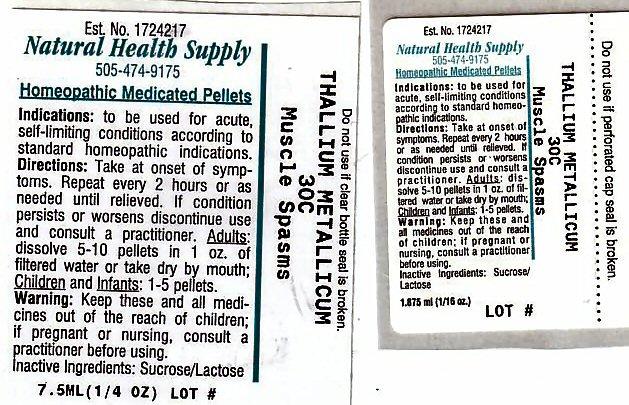 Muscle Spasms (Thallium) Pellet [Natural Health Supply]
