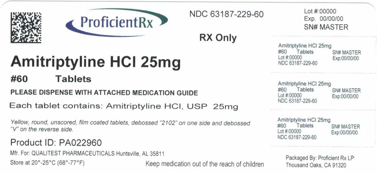Amitriptyline Hydrochloride Tablet, Film Coated [Proficient Rx Lp]