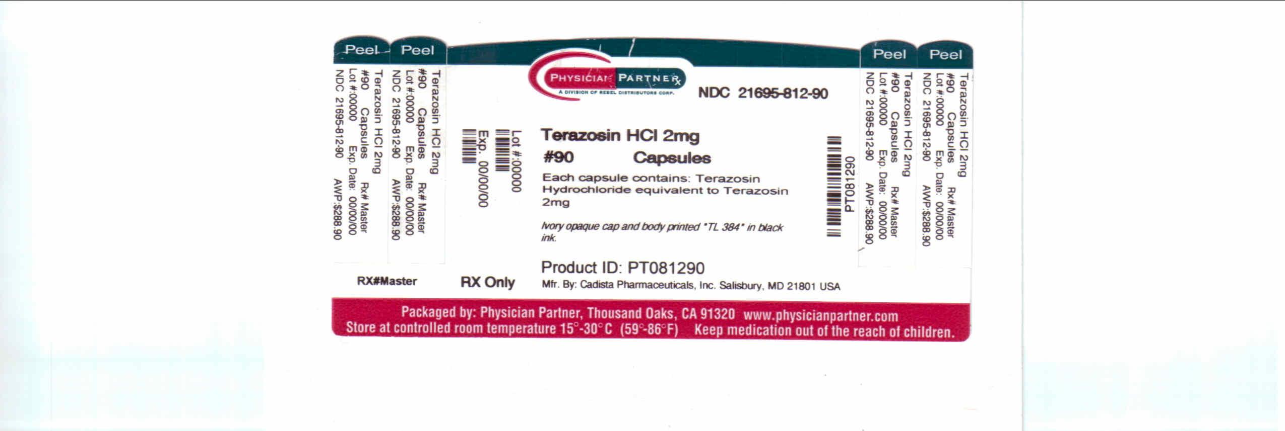 Terazosin HCL 2mg