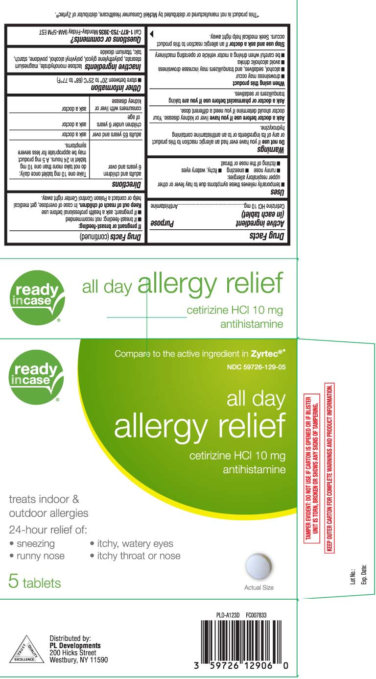 All Day Allergy Relief (Cetirizine Hcl) Tablet [P And L Development Of New York Corporation (Readyincase)]