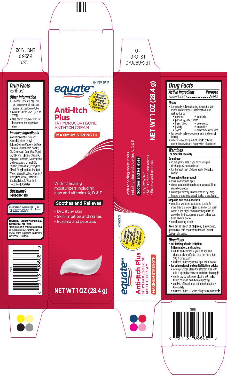 Hydrocortisone Anti-itch Plus (Hydrocortisone) Cream [Wal-mart Stores, Inc.]