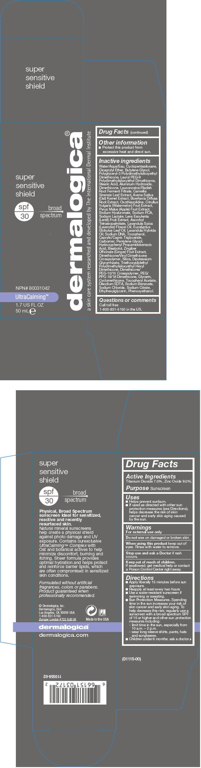 Super Sensitive Shield Spf 30 (Titanium Dioxide And Zinc Oxide) Lotion [Dermalogica, Inc.]