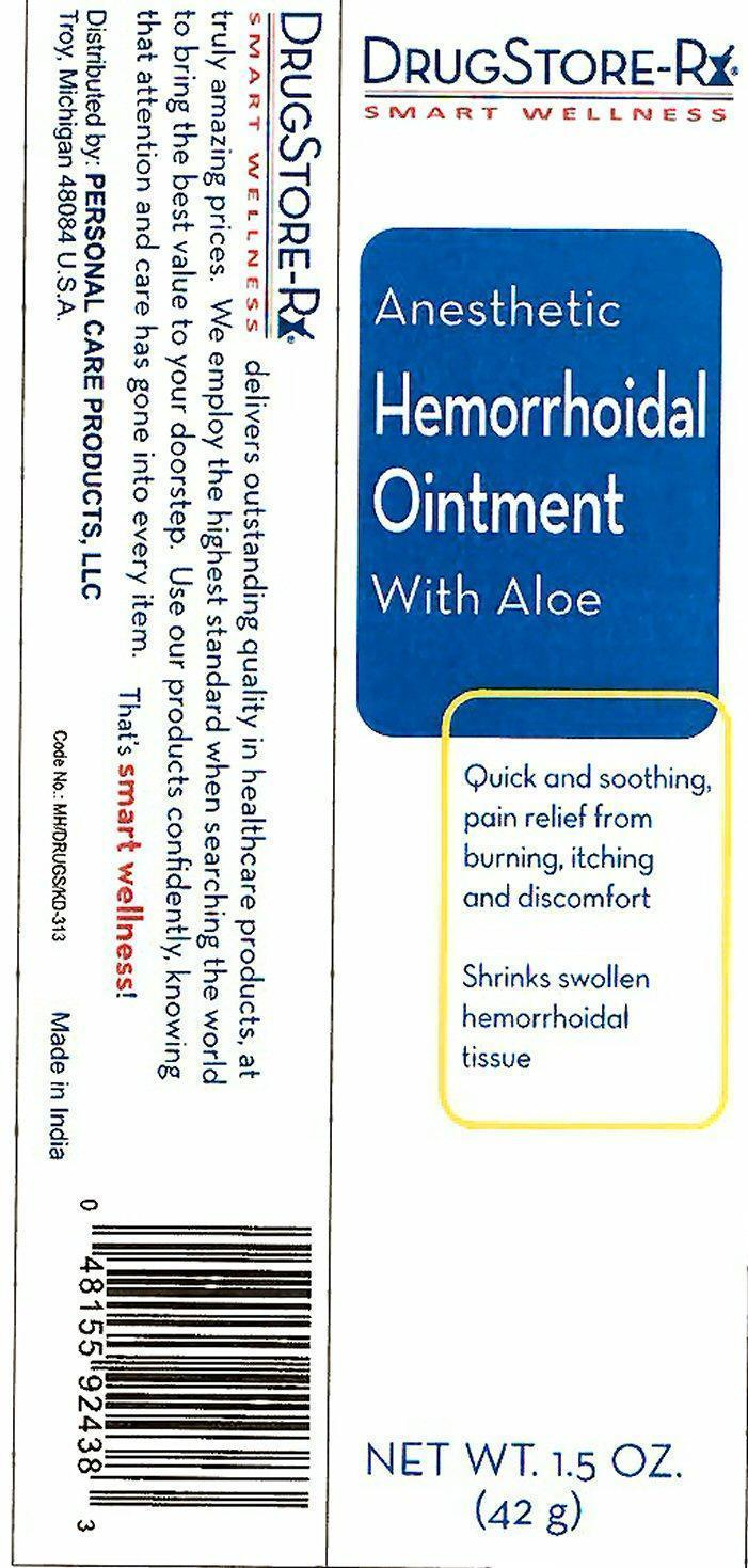 Anesthetic Hemorrhoidal With Aloe (Pramoxine Hydrochloride, Zinc Oxide) Ointment [Personal Care Products, Inc.]