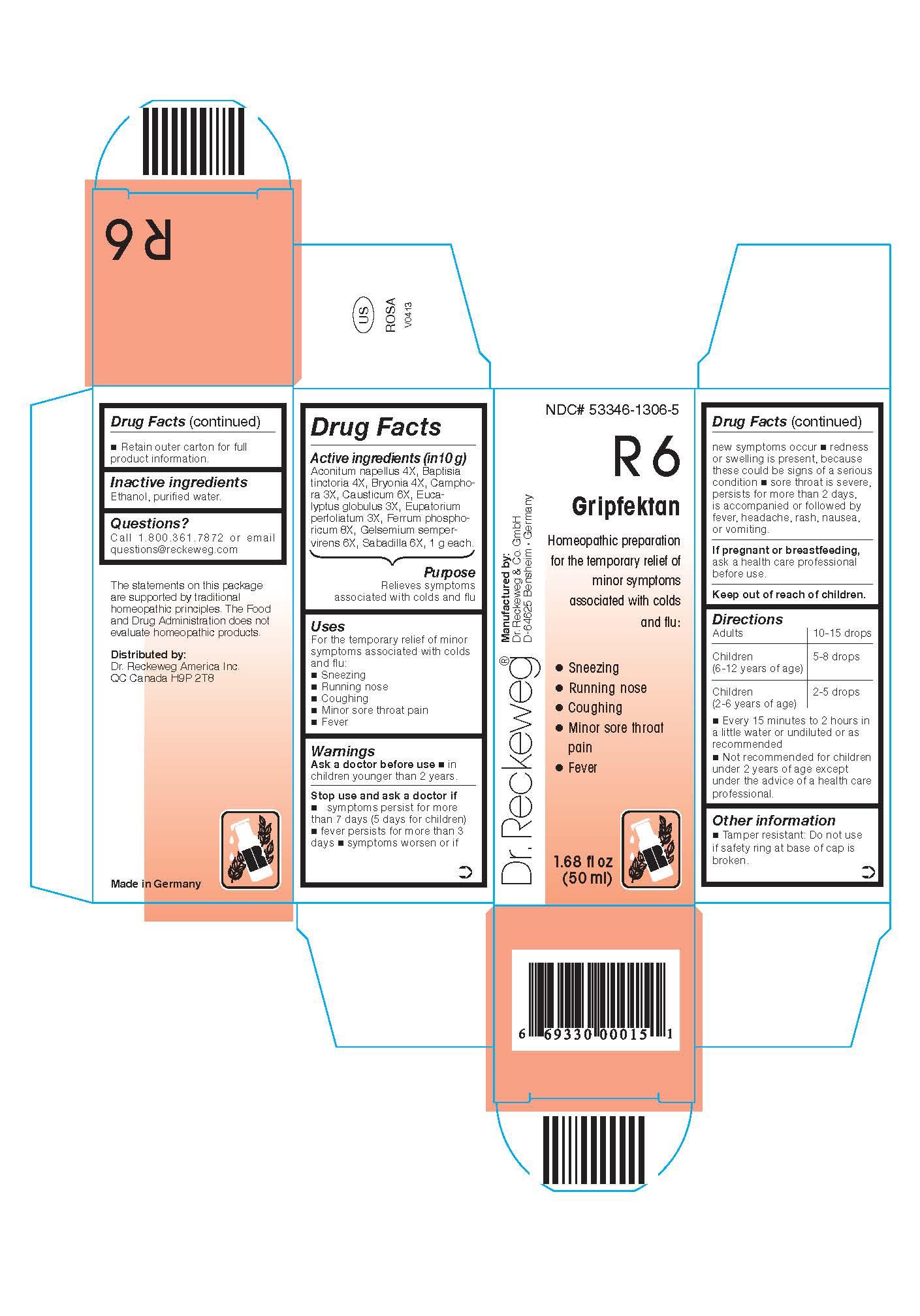 Combination Product (Aconitum Napellus 4x, Baptisia Tinctoria 4x, Bryonia 4x, Camphora 3x, Causticum 6x, Eucalyptus Globulus 3x, Eupatorium Perfoliatum 3x, Ferrum Phosphoricum 8x, Gelsemium Sempervirens 6x, Sabadilla 6x) Liquid [Pharmazeutische Fabrik Dr. Reckeweg & Co]
