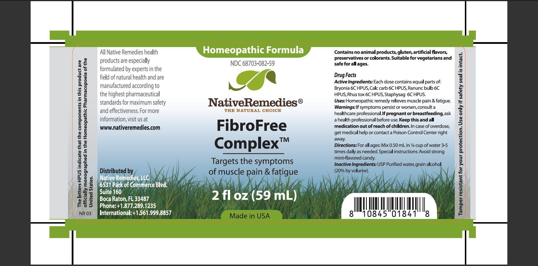 Fibrofree Complex (Bryonia, Calc Carb, Ranunc Bulb, Rhus Tox, Staphysag) Tincture [Native Remedies, Llc]