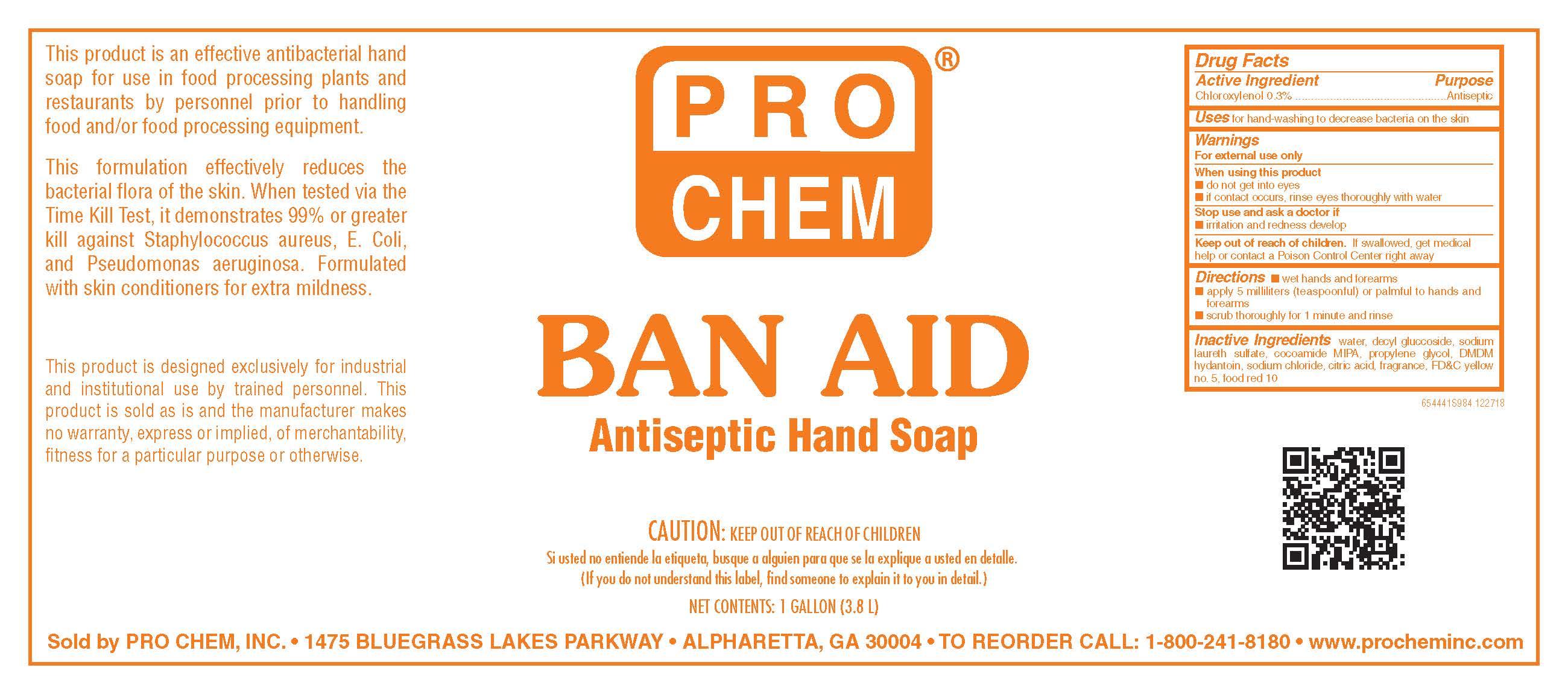 Ban-aid (Chloroxylenol) Soap [Pro Chem, Inc.]