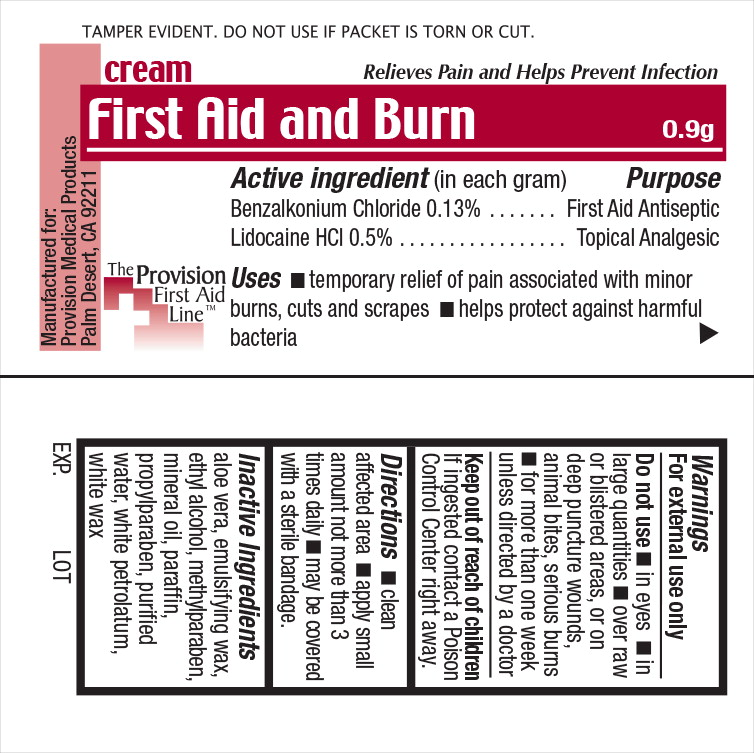First Aid (Benzalkonium Chloride And Lidocaine) Cream [Provision Medical]