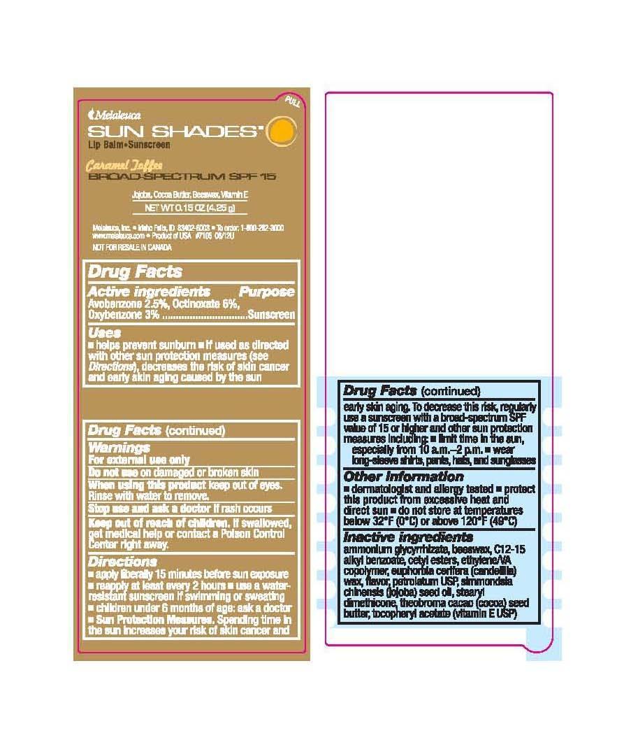 Sun Shades Lip Balm Caramel Toffee (Avobenzone 2.5%, Octinoxate 6%, Oxybenzone 3%) Stick [Melaleuca Inc.]