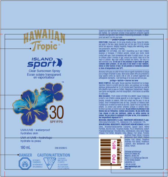 PRINCIPAL DISPLAY PANEL Hawaiian Tropic Island Sport SPF 30 for Canada