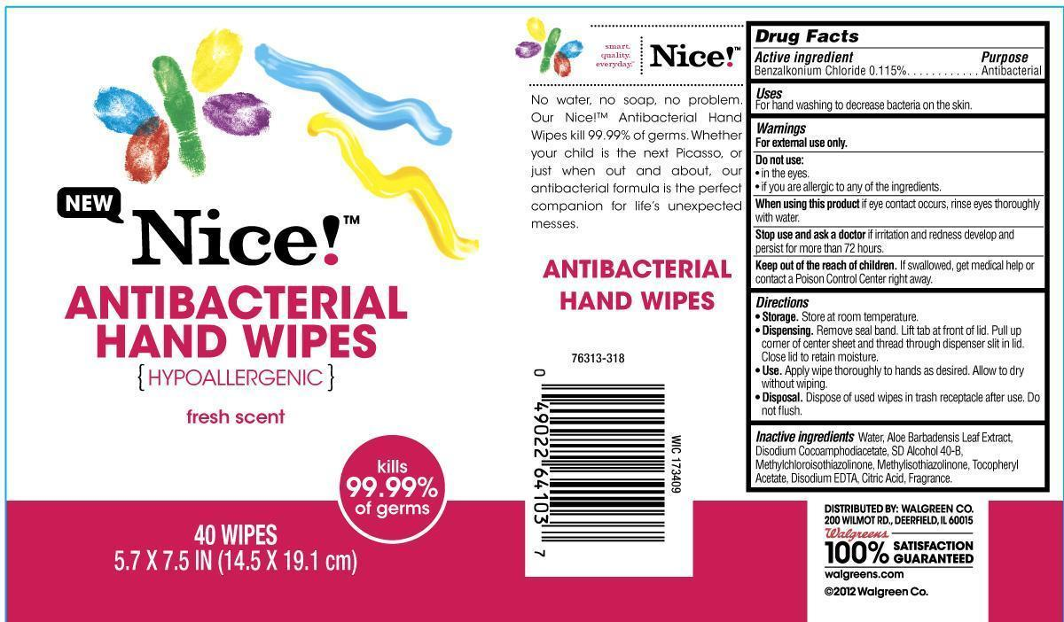 Nice Fresh Scent (Benzalkonium Chloride) Cloth [Walgreen Co.]