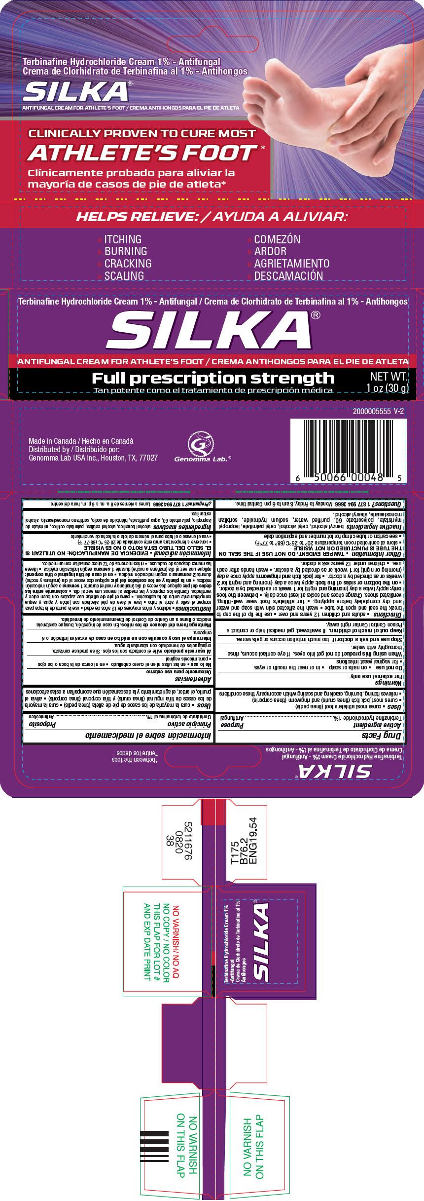 Silka Antifungal (Terbinafine Hydrochloride) Cream [Genomma Lab Usa, Inc.]