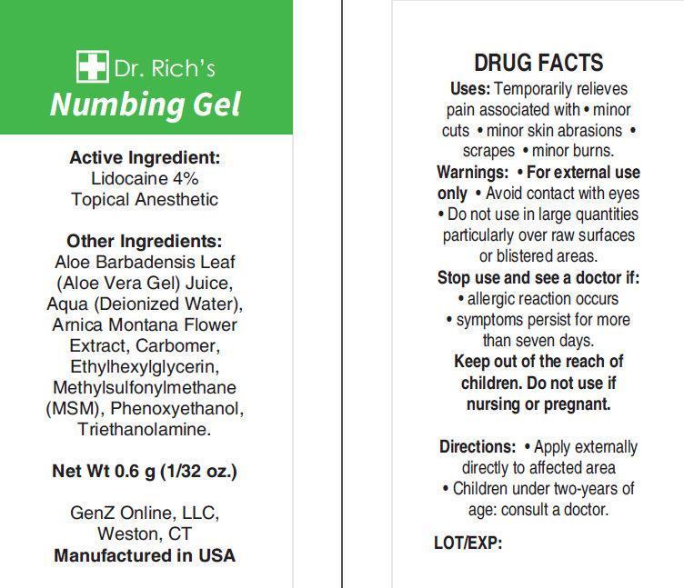 Dr. Richs Numbing (Lidocaine) Gel [Genz Online Llc]