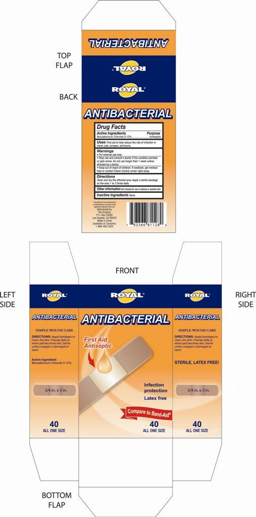 Bandage (Benzalkonium Chloride) Swab [Zhejiang Changdi Medical Co., Ltd.]