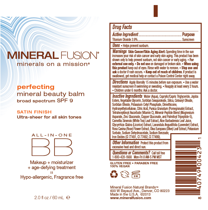 Perfecting Mineral Beauty Balm With Spf 9 (Titanium Dioxide) Cream [Mineral Fusion Natural Brands Llc]