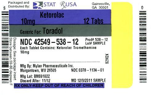 Ketorolac 10 mg Label Image