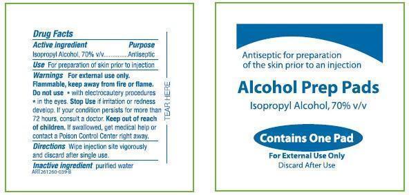 Global Easy Prep Alcohol Prep Pads (Isopropyl Alcohol) Liquid [Global Diabetic Distributors]
