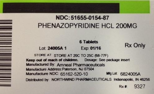 Phenazopyridine Hydrochloride Tablet [Northwind Pharmaceuticals]