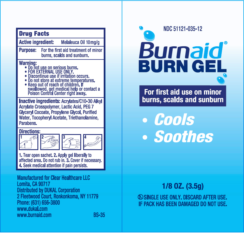 Burnaid Burn Gel (Tea Tree Oil) Gel [Clear Healthcare Llc]