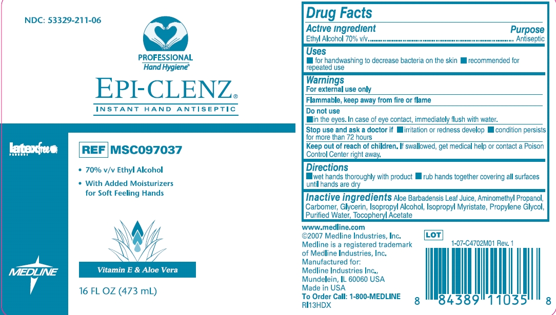 Epi-clenz Instant Hand Antiseptic (Ethyl Alcohol) Gel [Medline Industries, Inc.]